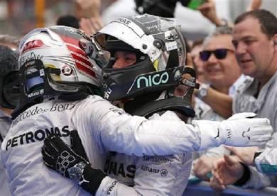 Malaysian Grands Prix 2014 Mercedes 1-2